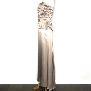 Nicole Miller Dresses - Nicole Miller Gray Strapless Gown Prom Dress H0679